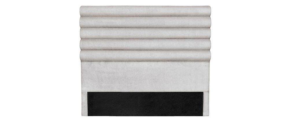Tête de lit design en tissu gris clair 140 cm HORIZON