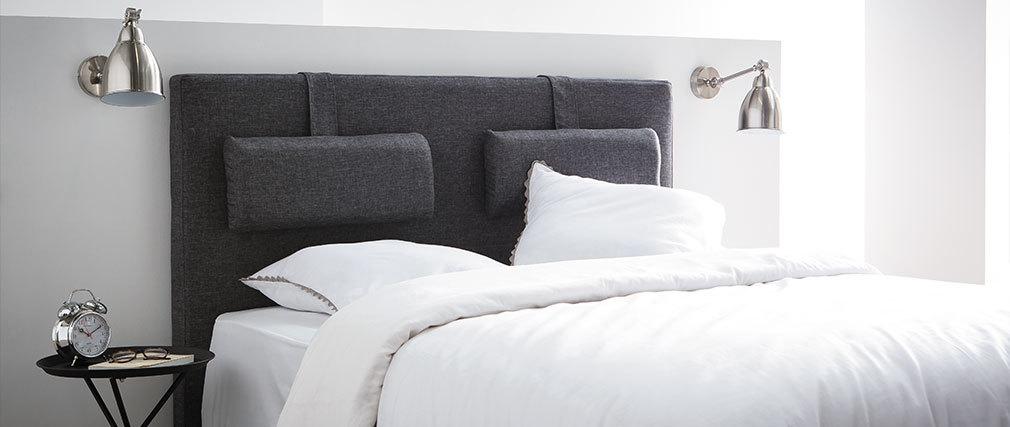 Tête de lit design gris foncé 150 cm LORRY
