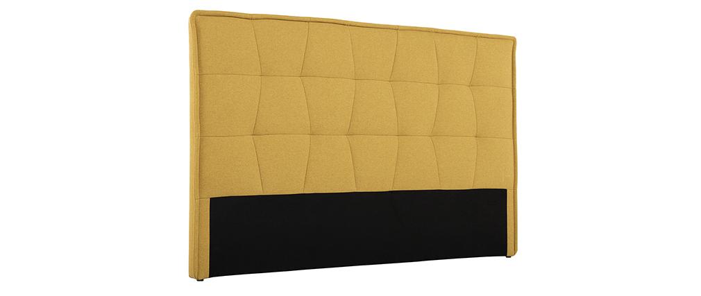 Tête de lit effet velours jaune moutarde 170 cm SUKA - Miliboo & Stéphane Plaza