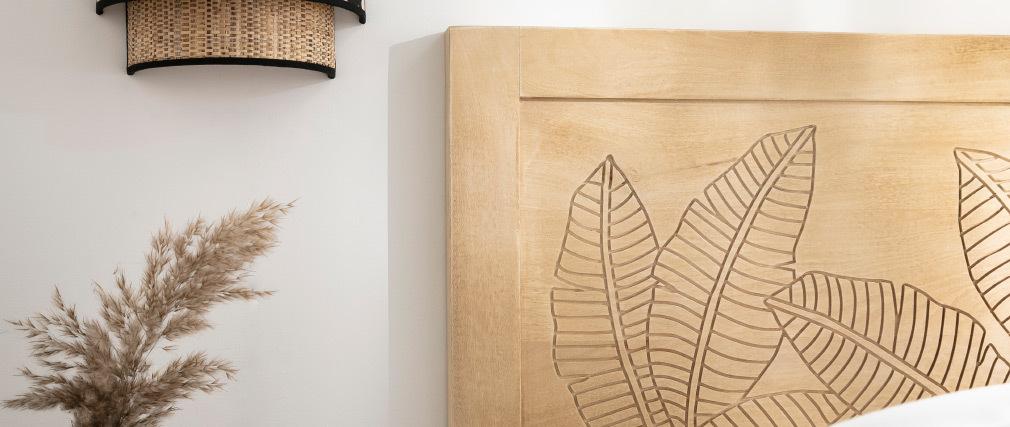 Tête de lit en manguier gravé L165 cm VIBES