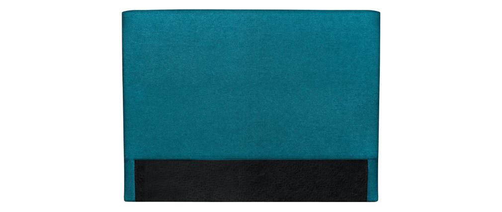 Tête de lit en tissu bleu canard 140 cm ZORYA