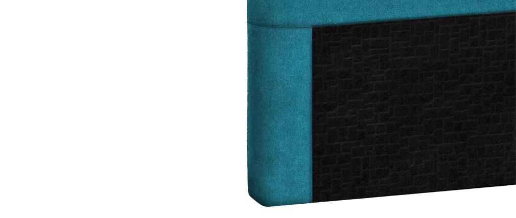 Tête de lit en tissu bleu canard 160 cm ZORYA