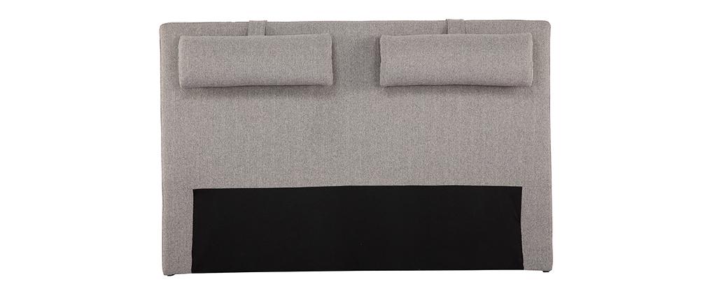 Tête de lit en tissu gris clair LORRY - Miliboo & Stéphane Plaza