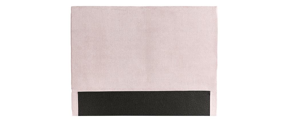 Tête de lit en tissu rose poudré 140 cm ZORYA