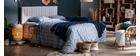 Tête de lit en velours beige grisé L170 cm NEHA
