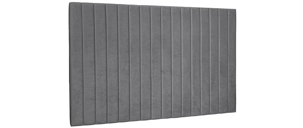 Tête de lit en velours gris L170 cm NEHA