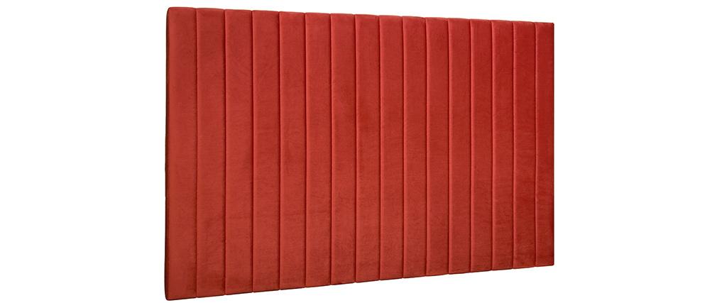 Tête de lit en velours terracotta L170 cm NEHA