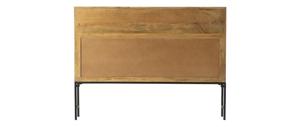 Tête de lit industrielle avec rangements 160 cm RACK