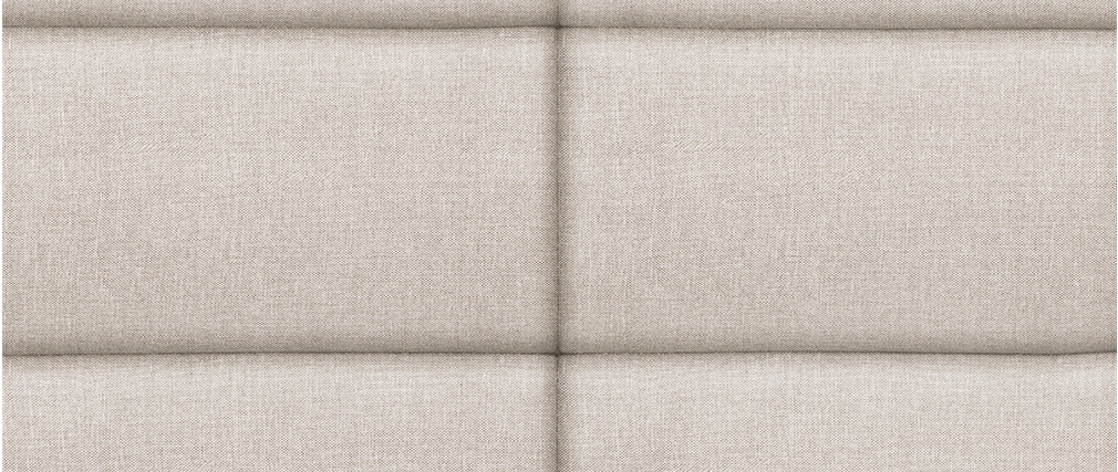Tête de lit moderne en tissu beige naturel 160 cm ANATOLE