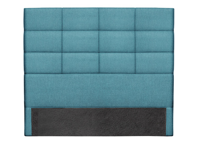 Tete De Lit Moderne En Tissu Bleu Canard 140 Cm Anatole