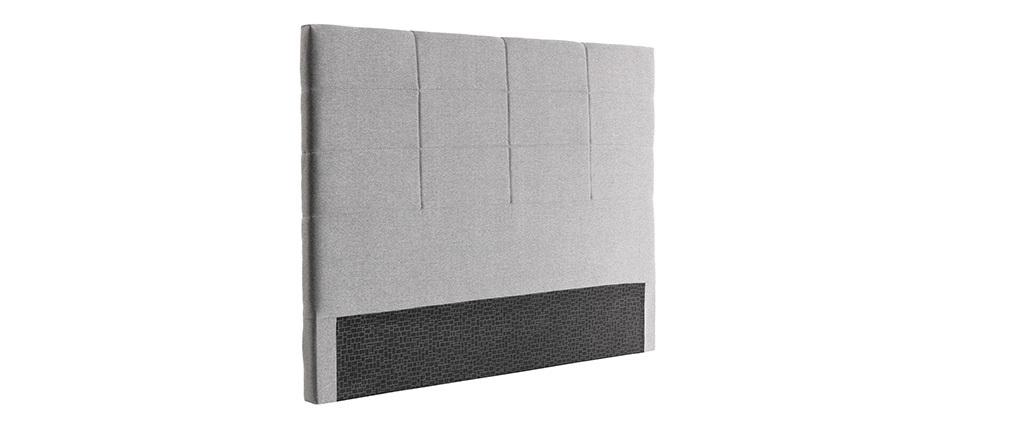 Tête de lit moderne en tissu gris 140 cm ANATOLE