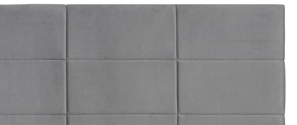 Tête de lit moderne en velours gris 160 cm ANATOLE