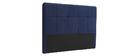 Tête de lit tissu bleu foncé 160 cm CLOVIS