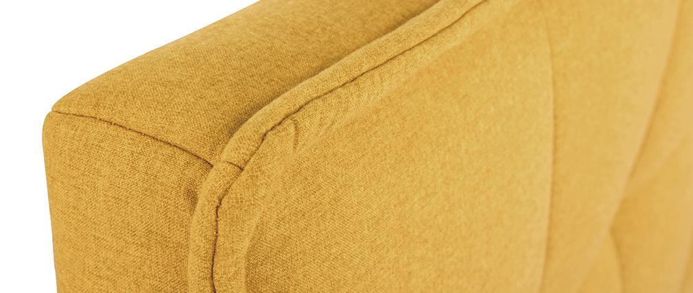 Tête de lit tissu effet velours jaune moutarde 170 cm SUKA - Miliboo & Stéphane Plaza