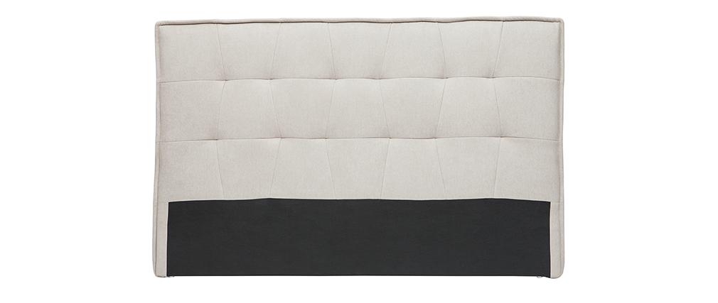Tête de lit tissu effet velours naturel 170 cm SUKA