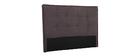 Tête de lit tissu gris foncé 150 cm SUKA