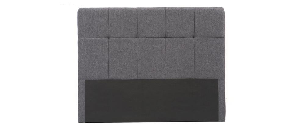 Tête de lit tissu gris foncé 160 cm CLOVIS