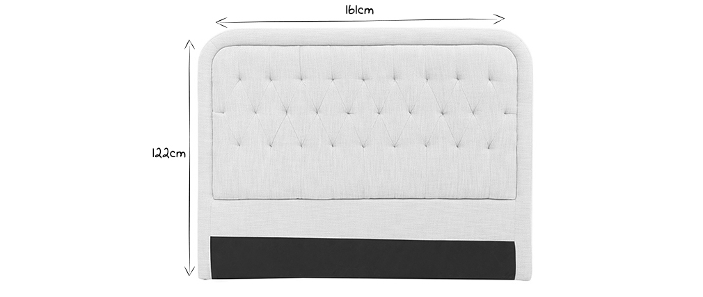 Tête de lit tissu naturel 160 cm LOUIS