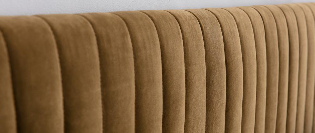 Tête de lit velours jaune 177 cm HOTEL