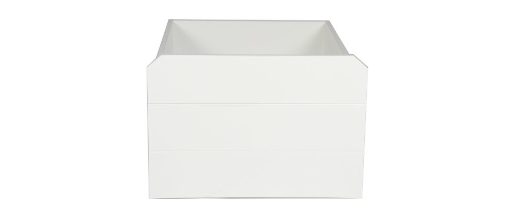 Tiroir lit rangement blanc PILOTI